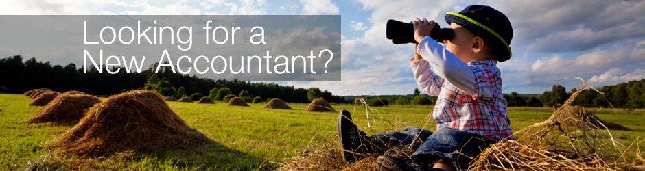 'Looking for a New Accountant?' banner